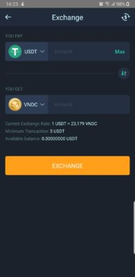 how to withdraw to cash with VNDC app