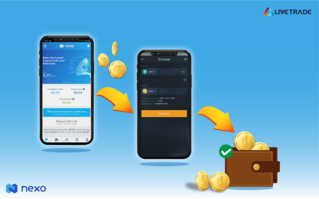 Instruction on using Nexo Instant Crypto Credit Lines™ via VNDC Wallet